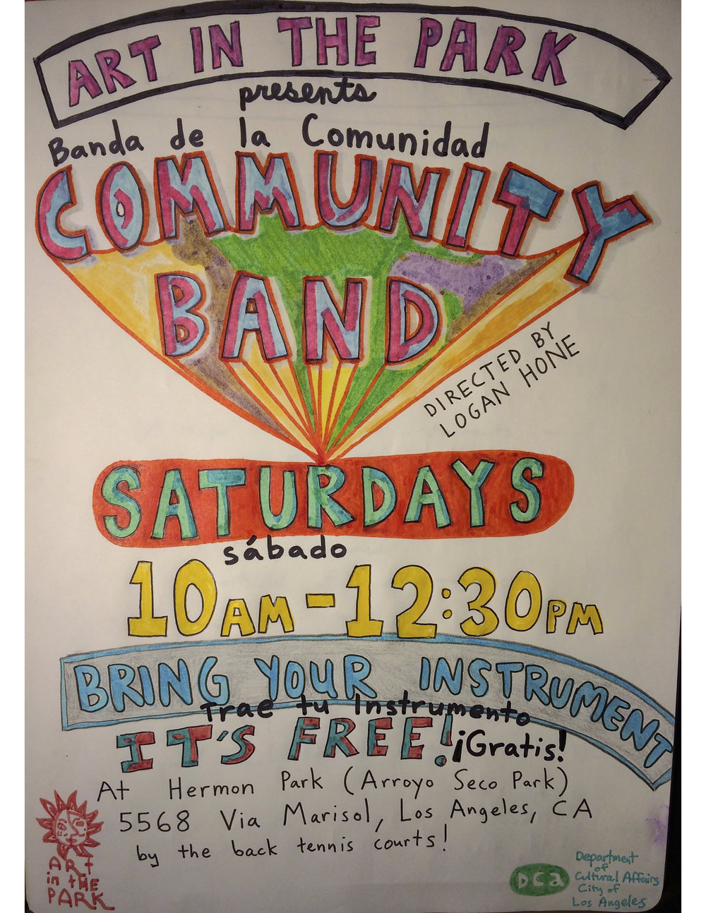 Community Band Saturdays 10-12:30 -