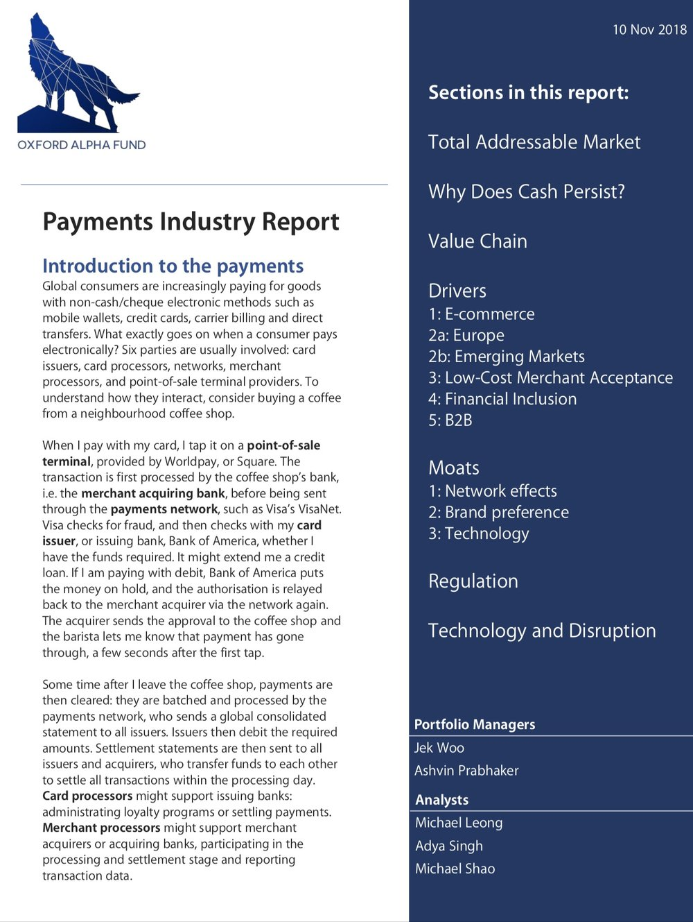 Download our latest report on the payments industry  here .