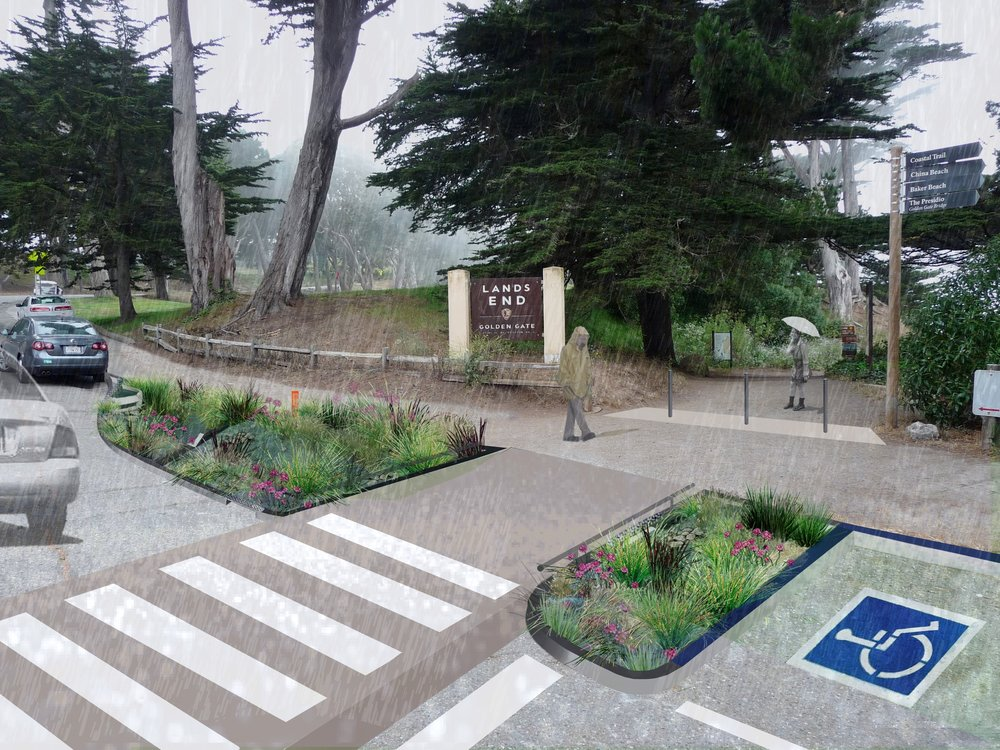 rain gardens @ land's end trailhead
