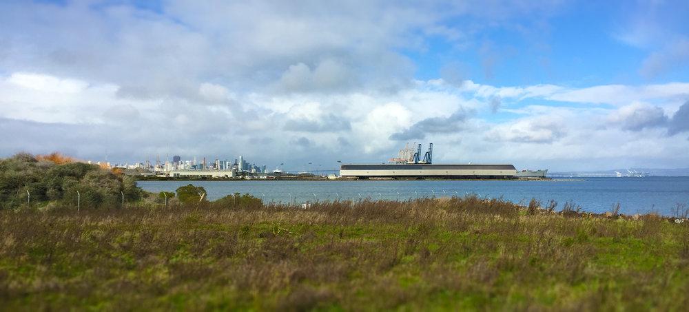 sf skyline from shipyard