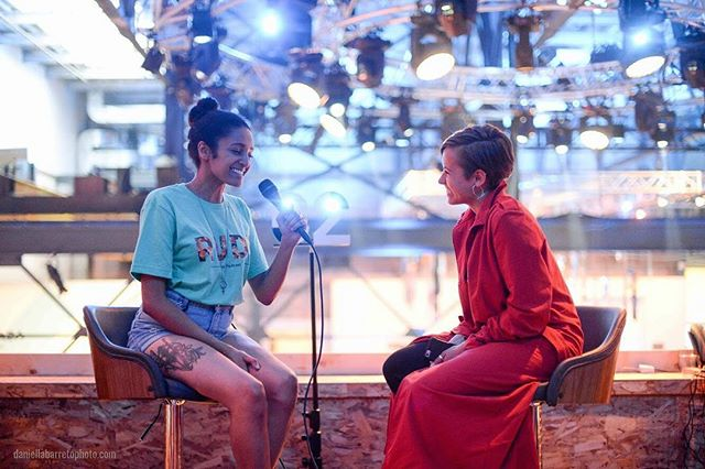 """⚡️🎙""""And this is RUDE""""🎙⚡️ @dani_atomicus and @karita_sj catch up last spring in #Montreal after chatting with @snoopdogg and Arwa Mahdawi of #RentAMinority @c2montreal #stayRUDE #rudethepodcast #podcastlife"""