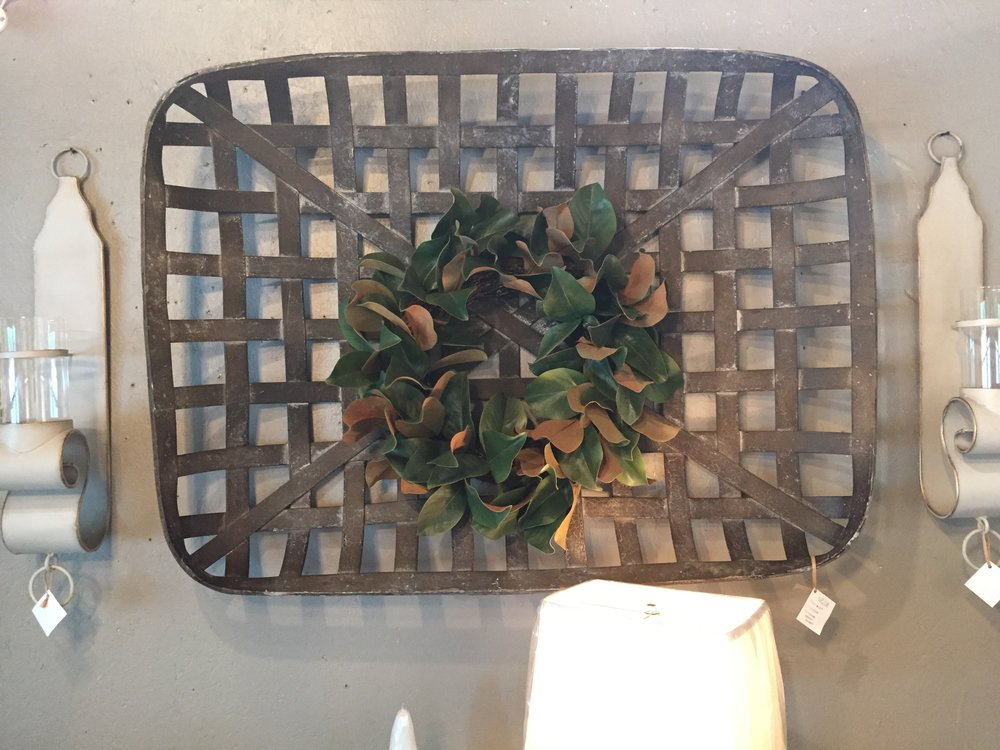 Tobacco Basket & Magnolia Wreath