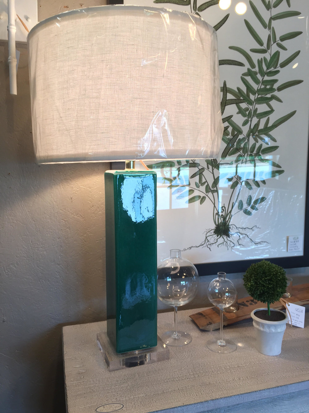 Turquoise Lamp - $287