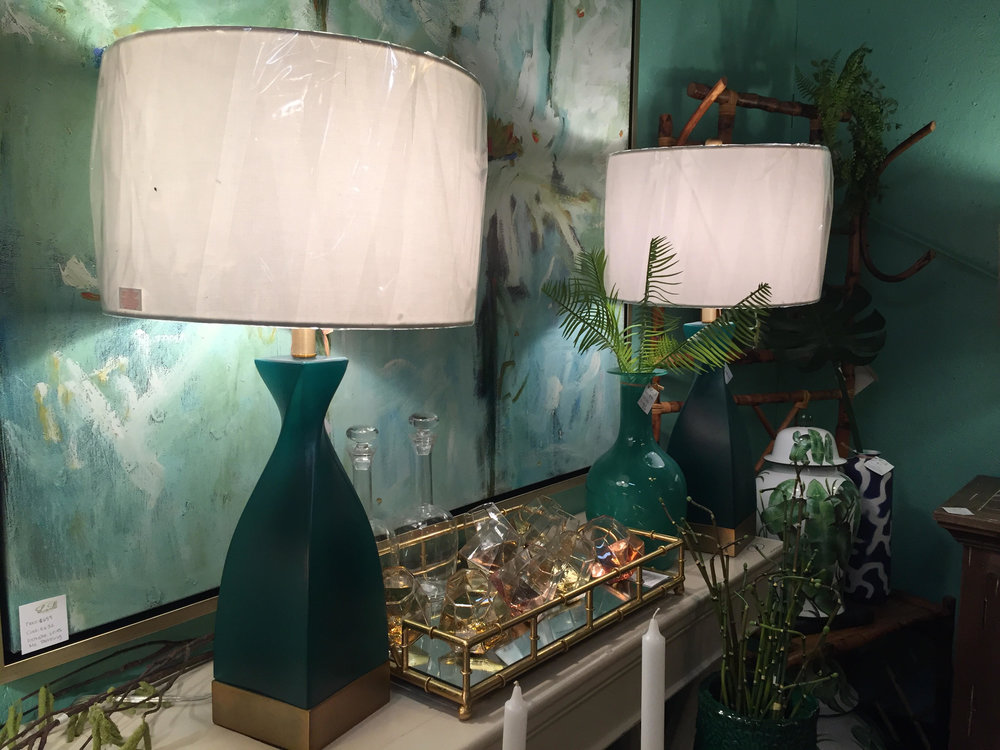 Blue and Gold Lamps - $275 each