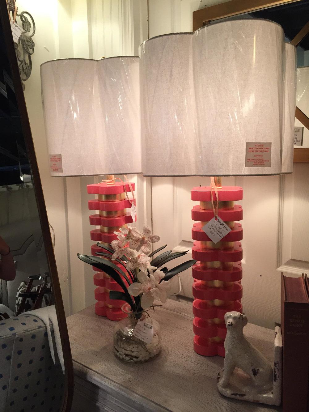 Pink Quatrafoil Lamps - $368 each