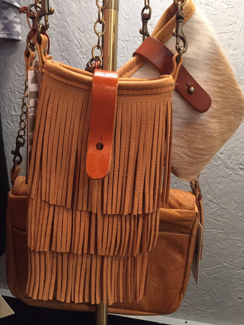 Cowhide and Fringe Purses