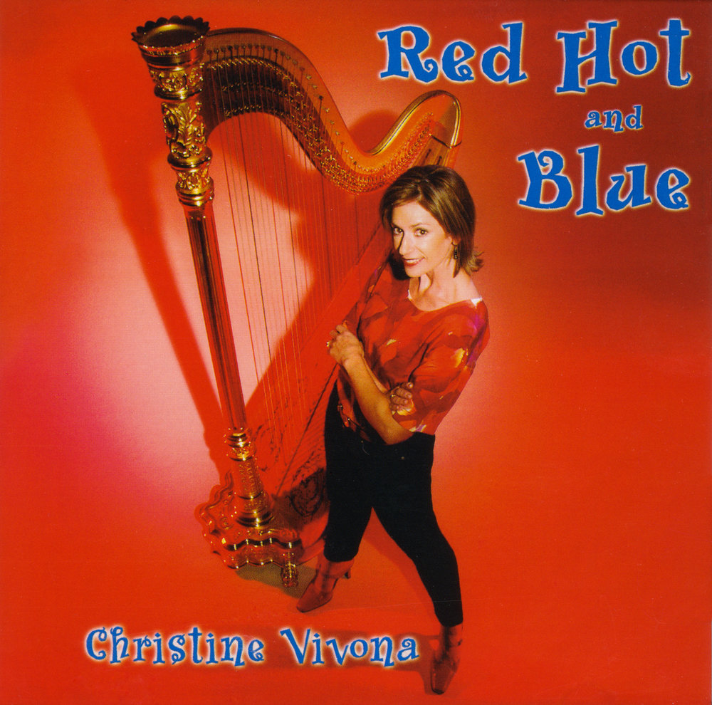 Red Hot and Blue CD Cover: Tucson, Arizona Harpist Christine Vivona