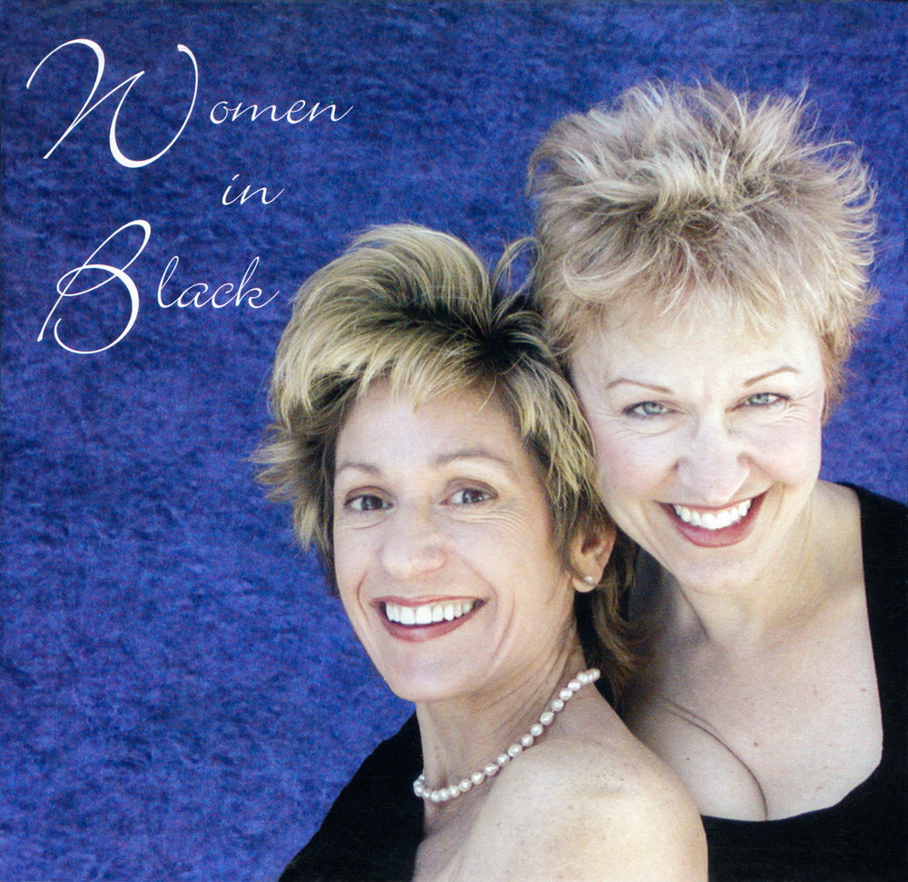 Women in Black CD Cover: Tucson Harpist Christine Vivona and Flutist Sandy Schwoebel