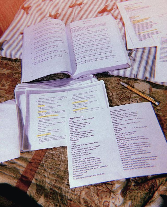 Friday nights are for learning lines and reviewing sides and hurting my own feelings  #andtakingpicturesinsteadofworking #dothework #theatre #hurtingmyownfeelings #wildfridaynights #learning #picturesoftext #unproductive #sensoryoverload #lightroom #huji #workfromhome #homeoffice #friedbrain