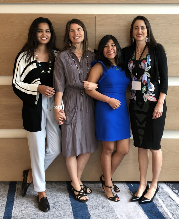 Speakers: (left to right) Kaylena Bray, Melissa K. Nelson (host), Mariaelena Huambachano, Elizabeth Hoover  | Air Date: July 12, 2018 | Run Time: 31mins  | The Native Seed Pod S1E3