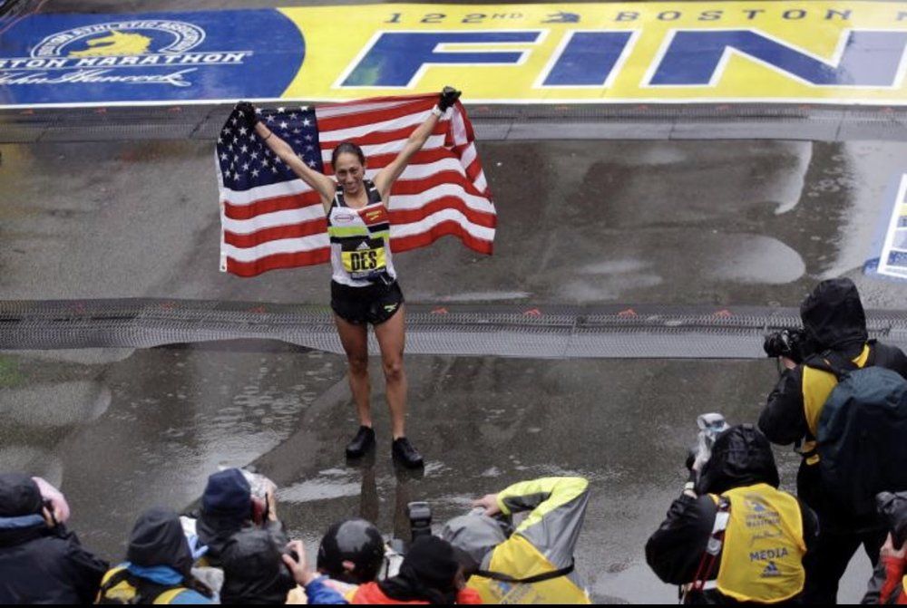 first American female to win Boston in my lifetime!  photo: new york daily