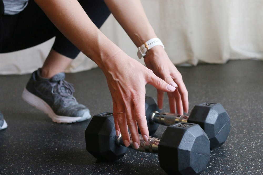 pick up those weights. even when you don't want to.