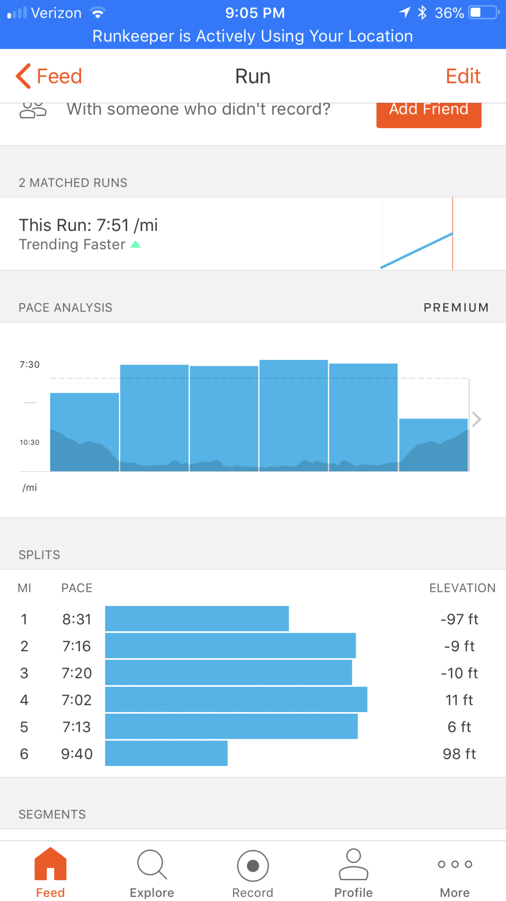 solid four tempo miles