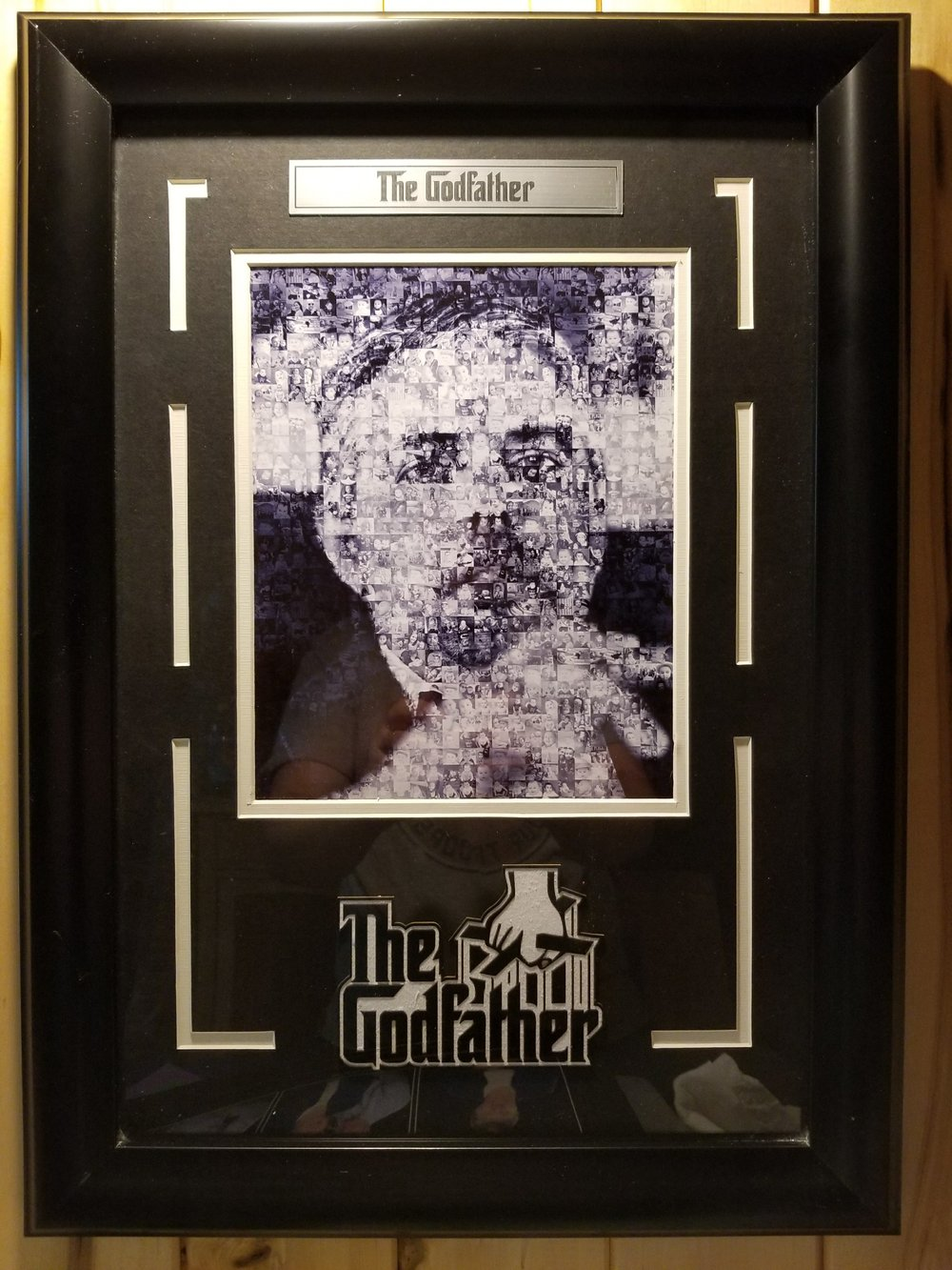 Matted and framed Godfather photo mosaic