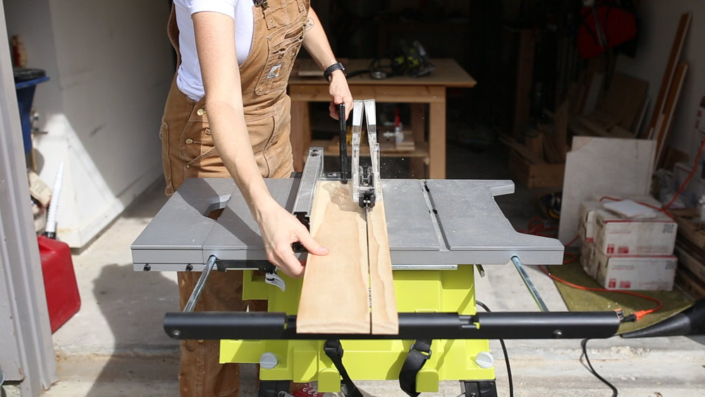 """I then moved to my  Table Saw  and ripped the boards to a width of 4.5""""."""