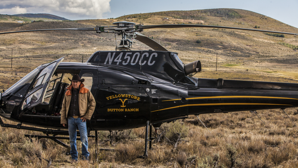 Kevin Costner filming his new series  Yellowstone  on location in the Bitterroot Valley