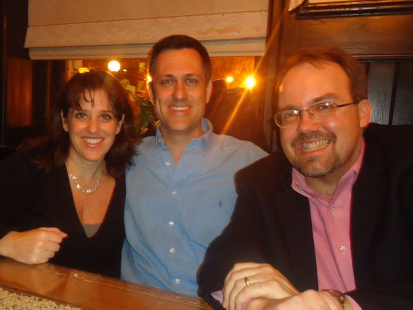 Me, Rob and Dr. Andy Nowalk., who is a double doctor...M.D. and Ph.D. Super smart.