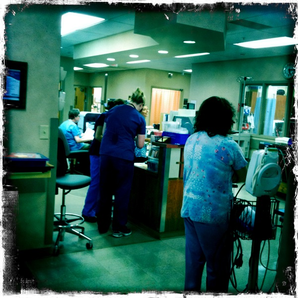 Bridgton Hospital. They have Internet and a banjo player, but they don't have a bile duct vacuum.