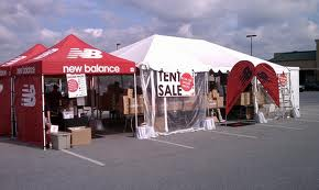 The tent sale I saw was much bigger and the tents were a tempting orange