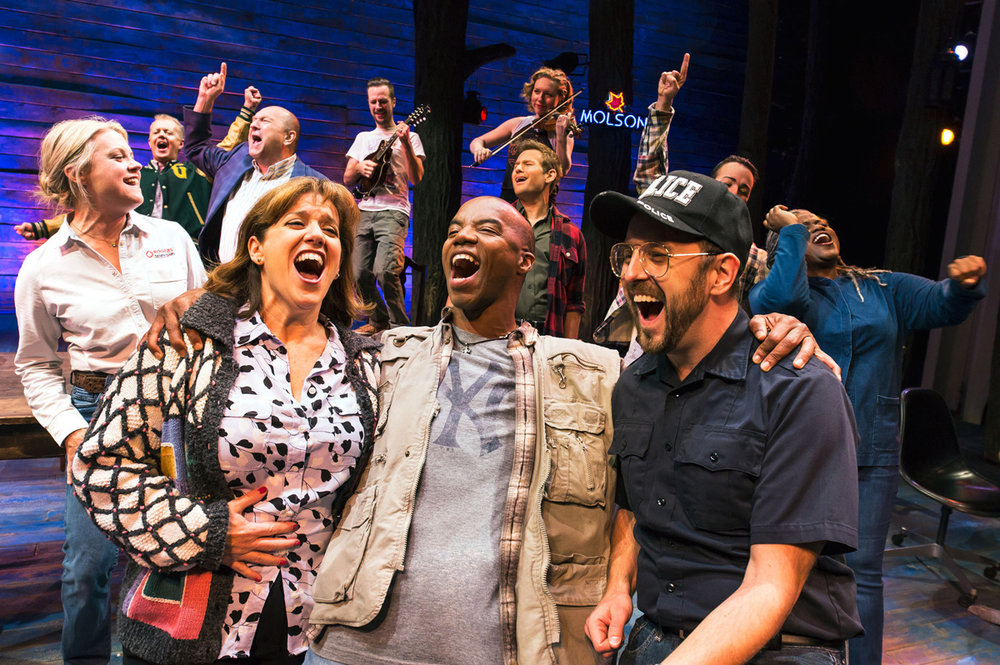 Diane in  Come From Away  at the Schoenfeld Theater  Photo:  Matthew Murphy