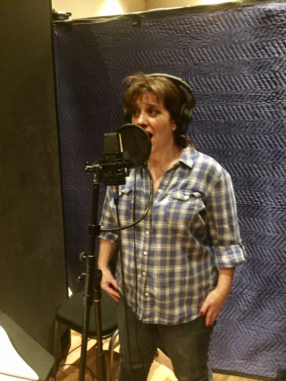 Recording the CFA cast album. (Costume Party)