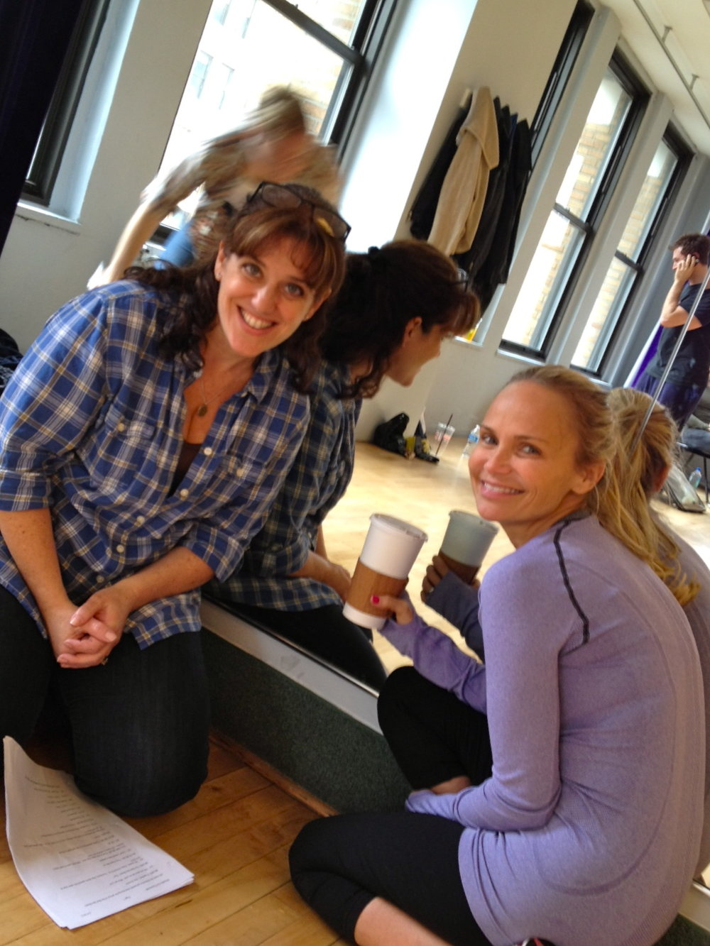 Me with Kristin Chenoweth while working on writing her concert material.