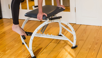 Spin Seat - • Acts as a catalyst firing up your core stabilizing muscles• Targets core at multiple points of rotation, flexion and extension• Provides Increased range of motion• Locks in two positions for greater support of all body types