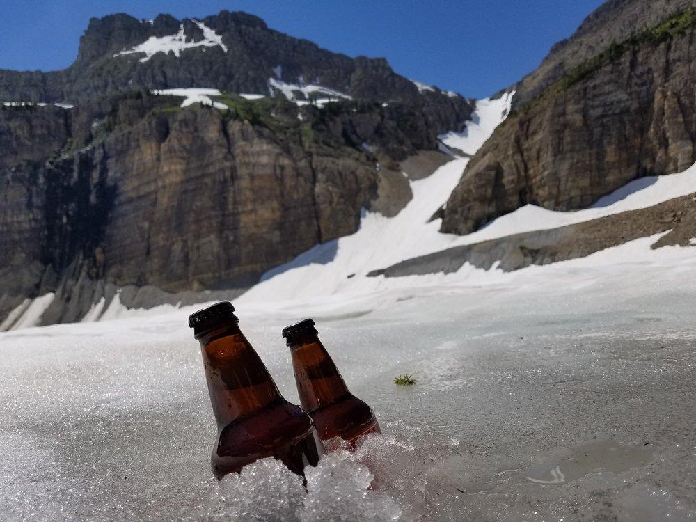 Glaciers make the greatest coolers-  Glacier National Park, MT.
