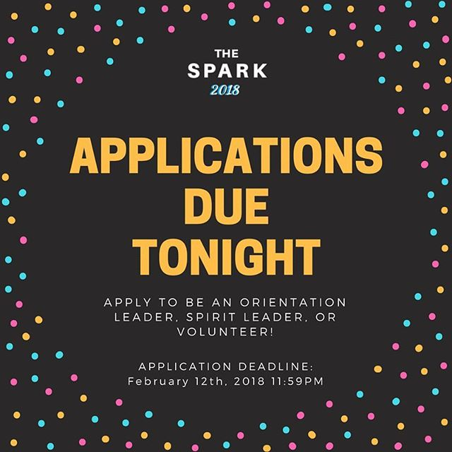 Applications for Imagine UBC & The Spark 2018 are due at 11:59PM tonight! Click the link in our bio for more info.💥