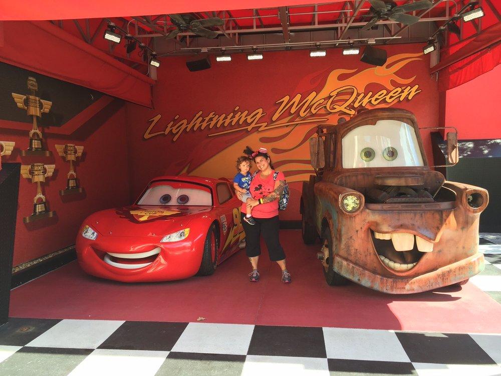 Disney World Hollywood Studios Lightening McQueen and Mater
