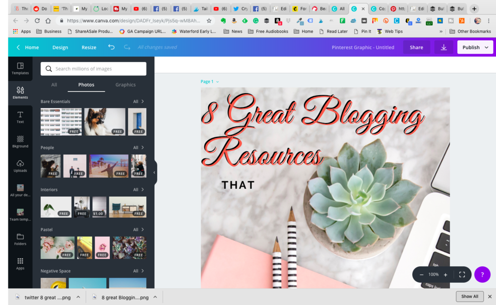 8 great Blogging resources that work for me - Canva