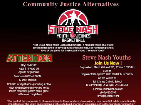 Bring your little ones and come join us tonight for the Steve Nash Youth Basketball Program!🏀👟 . From 6-7:30pm at Saint James Catholic School in Ajax. The goal of the program is to promote the importance of youth basketball to build character, discipline, self-esteem, and sportsmanship — all while having fun! 👧🏽🧒🏼👦🏻👶🏿 . It's still not too late to register... See you tonight! 👍 . . . #thewilsonproject #twp #employmentandtrainingcentre  #youth #mentorship #opportunities #training #education #programs #stevenashbasketball #annualfundraisinggala #2018 #nonforprofit #future #brightertomorrow #community #payitforward #alllivesmatter #allyouthmatters #kencos #gta