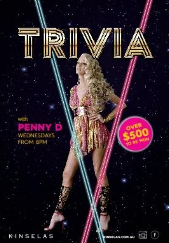 Trivia at Kinselas Hotel, Taylorsquare, Darlinghurst, Sydney