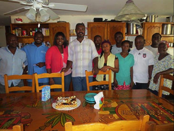 Staff at Mathew House
