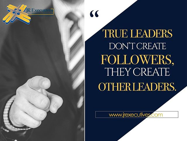 True leaders create more LEADERS! 🤔