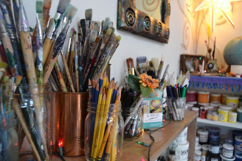 pencils & brushes.JPG