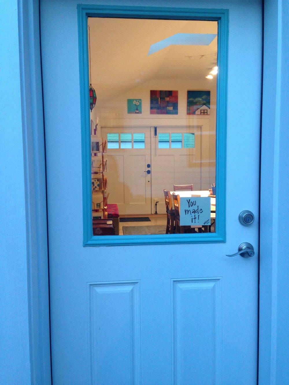 through the studio door.JPG