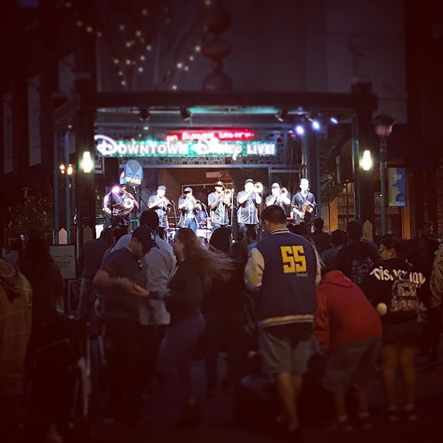 Saturday night!  #downtowndisney #lalabrass #brassband #livemusic