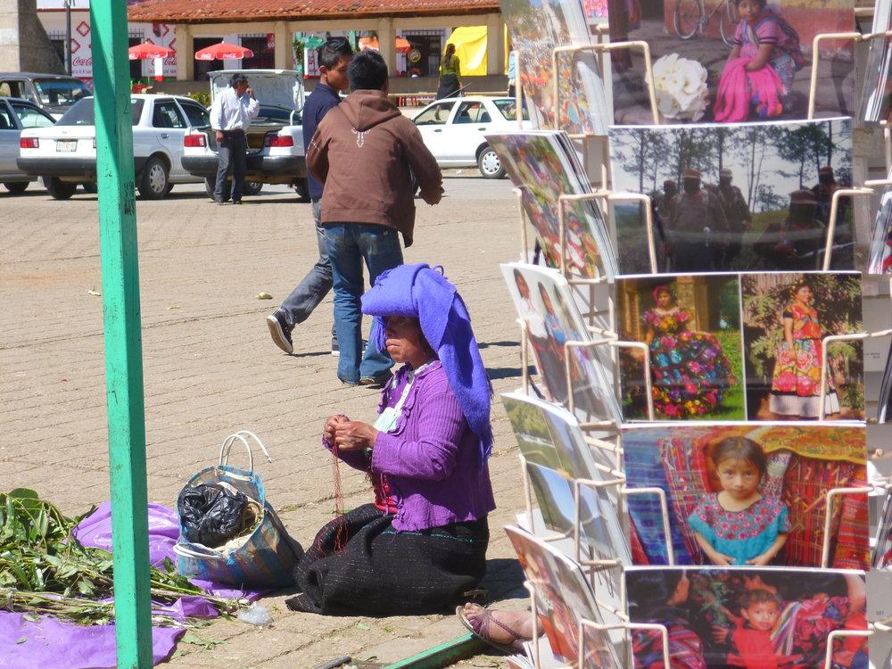Street vendor in San Juan Chamula