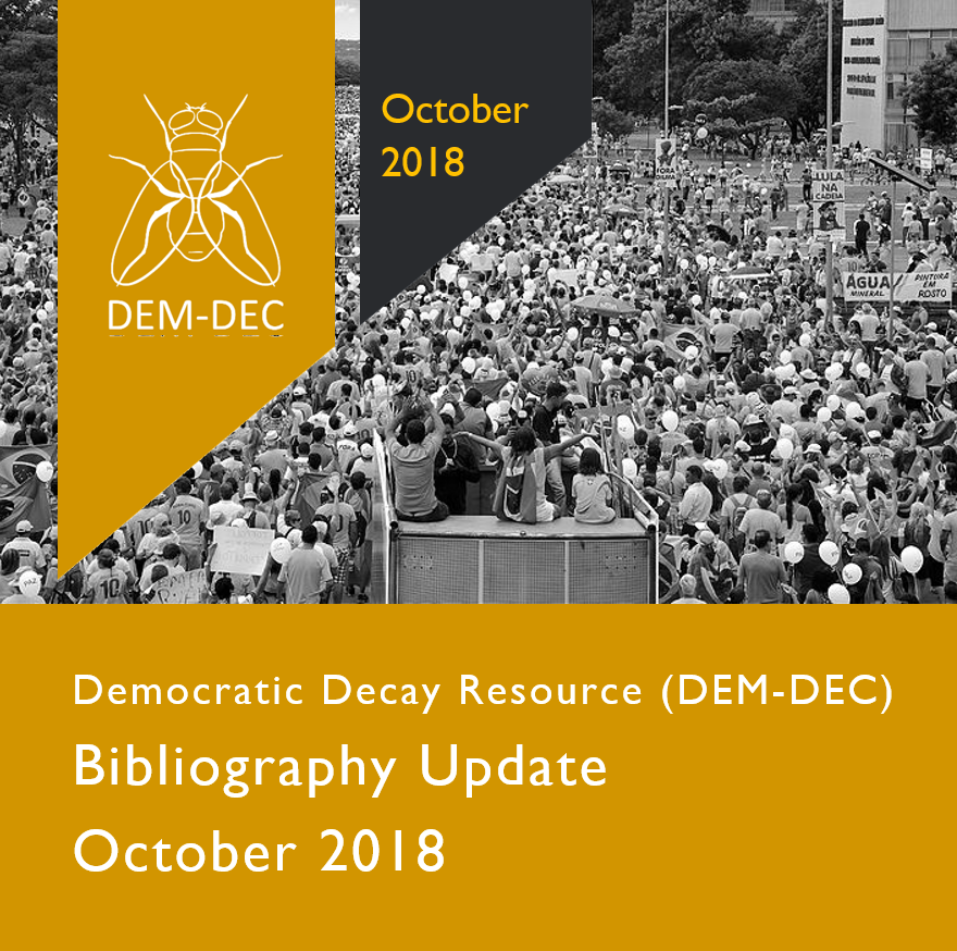 LATEST UPDATE JUST ISSUED - 1 October 2018 -