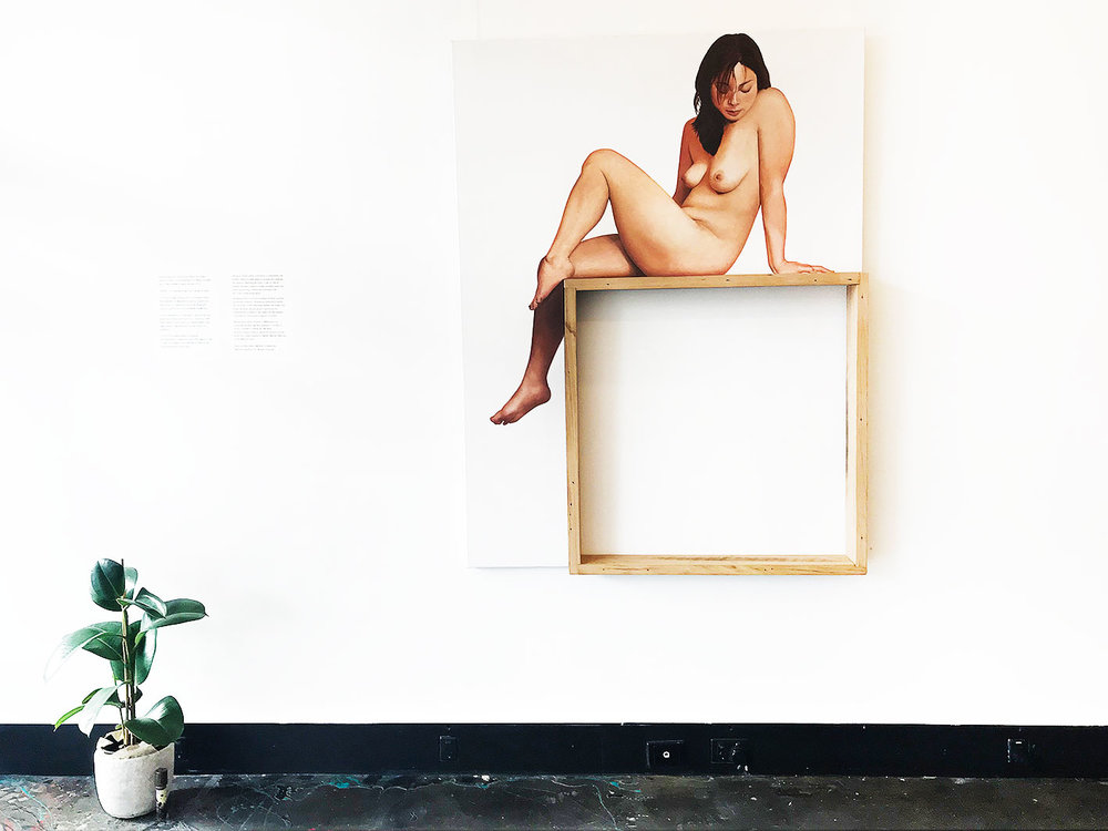 Stacey Korfiatis -  Paradise Lost , Acrylic on Linen 150 x 90 cm