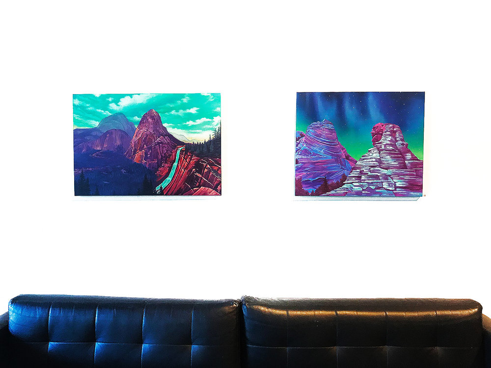 (pic 01) Jack Rowland -  Wondrous Place , Oil on linen 50 x 73 cm  (pic 02) Jack Rowland -  Wondrous Place , Oil on linen 60 x 60.5 cm