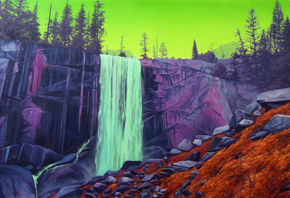 Jack Rowland -  Vernal Falls , Oil on linen 50 x 73 cm (photo provided courtesy by Artist)