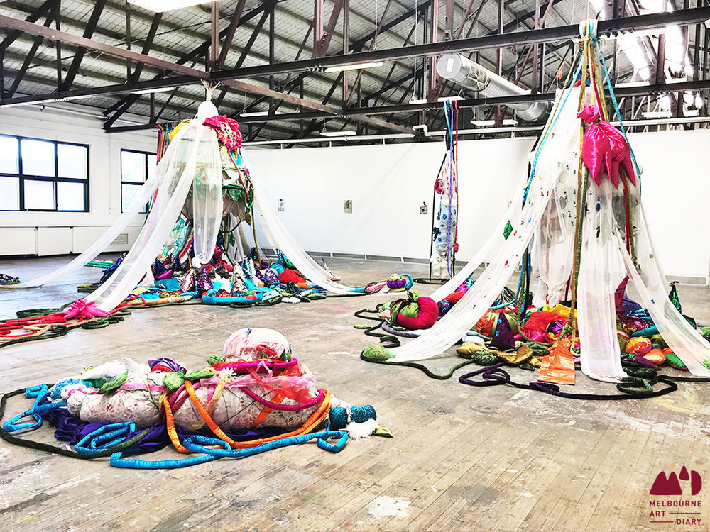 Janno Mclaughlin -  Tales of a Practice - Installation (Cocoon) , mixed media, dimensions variable