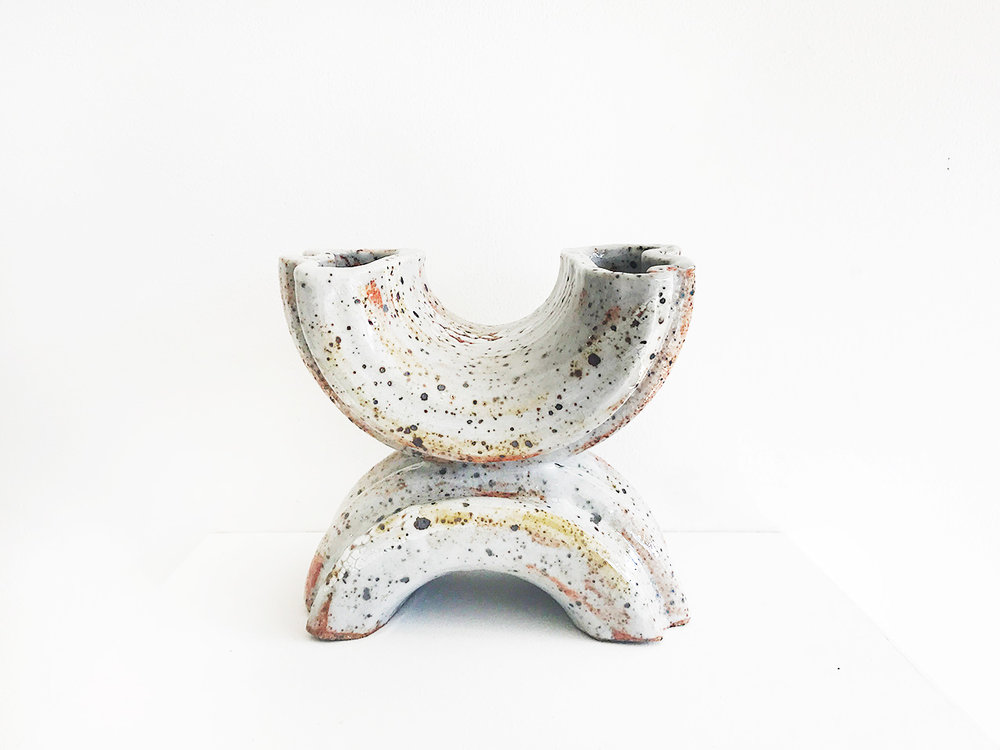 Georgina Proud -  Helix , Stoneware clay and glazes 17 x 10 x 15 cm