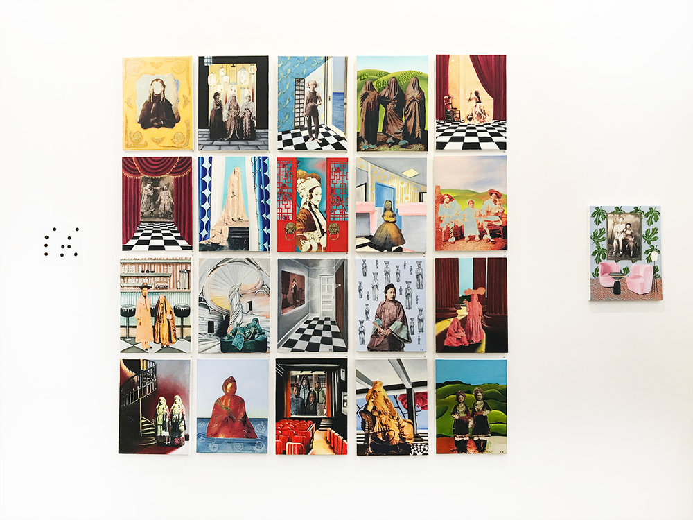 Artist - Olga Tsara, Oil and photo transfer on canvas 40 x 30 cm
