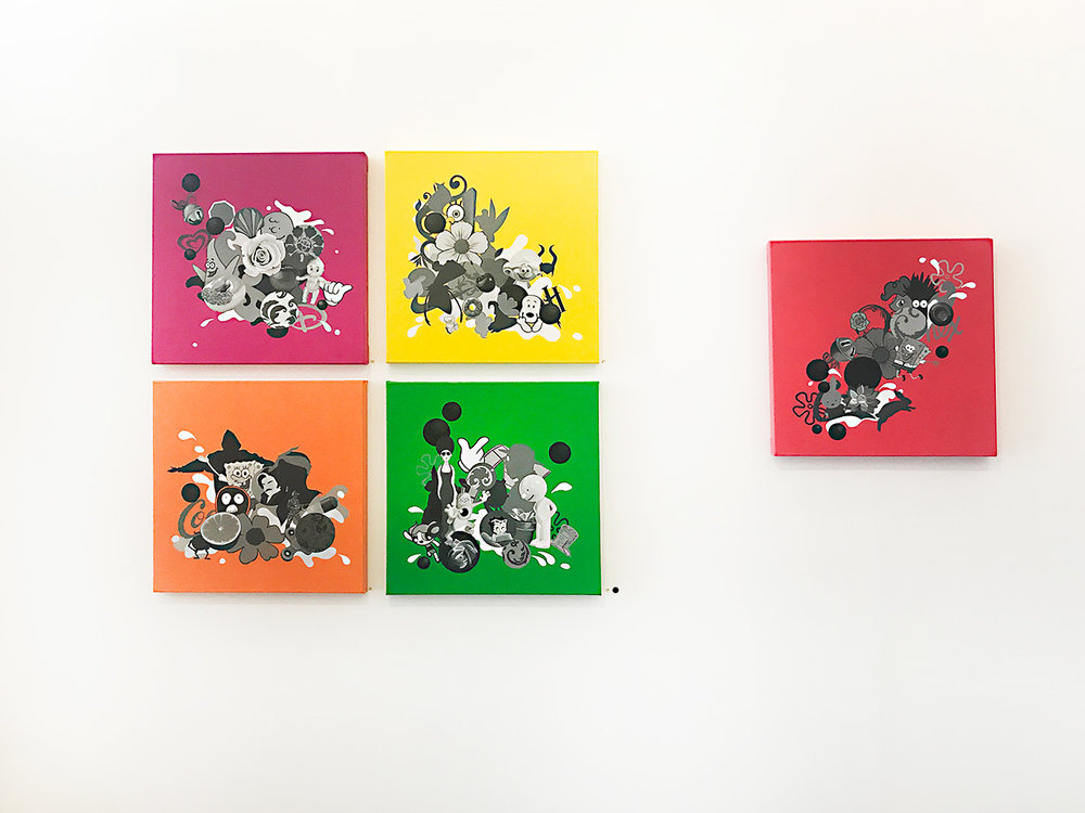Artist - Polly Hollyoak, Oil and canvas 50 x 50 cm