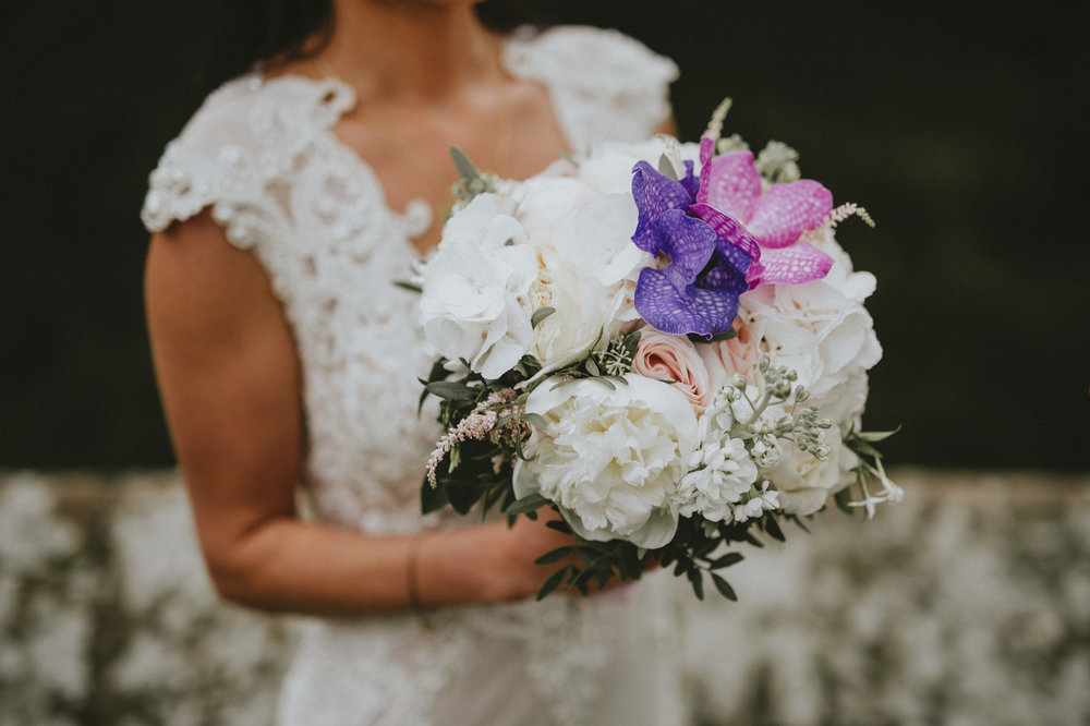 For this bouquet, it was important to highlight the purple and pink for sentimental reasons. If you have something you'd like to add in, just let us know!