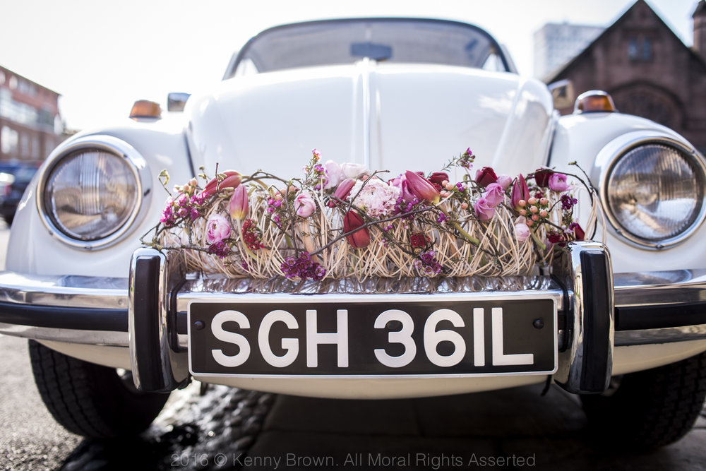 wedding car, Paragon floral design
