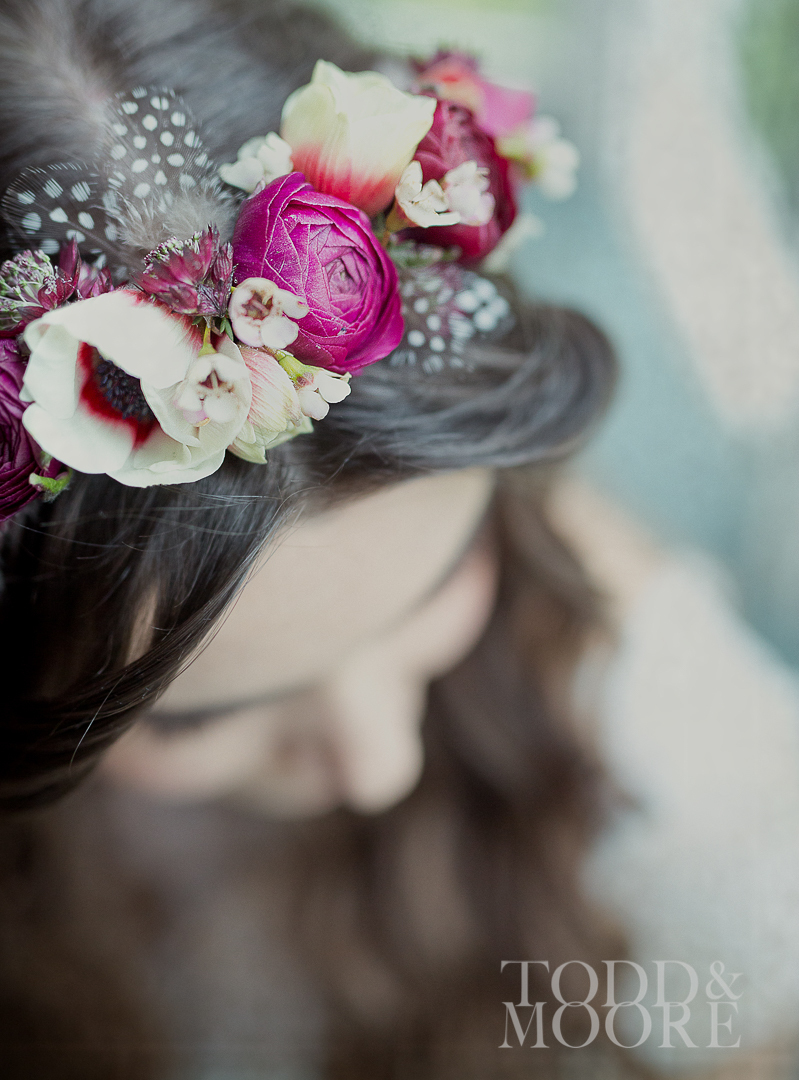 Hair flowers, Paragon floral design
